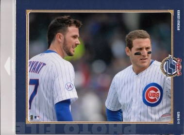 Kris Bryant & Anthony Rizzo Chicago Cubs Licensed MLB Photo File 8x10 Photo In Package