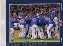 2016 World Series Champions Chicago Cubs Licensed Photo File 8x10 Celebration Photo In Package B