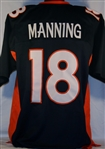 Peyton Manning Denver Broncos Custom Alternate Jersey Mens XL