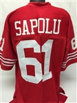 Jesse Sapolu San Francisco 49ers Custom Home Jersey Mens 2XL