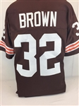 Jim Brown Cleveland Browns Custom Home Jersey Mens 2XL