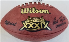 Super Bowl 39 XXXIX Official Wilson NFL Game Football w/ box New England Patriots vs Philadelphia Eagles