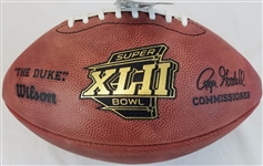 Super Bowl 42 XLII Official Wilson NFL On Field Game Football New York Giants vs New England Patriots
