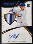 Kris Bryant 2015 Panini Immaculate Auto 3 Color Jersey Patch RC 2/99 Chicago Cubs