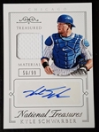 Kyle Schwarber 2015 Panini National Treasure Auto 2 Color Jersey Patch RC 56/99 Chicago Cubs