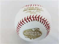 2003 Rawlings MLB Official 100th World Series Game Baseball Marlins vs Yankees 2