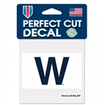 "Chicago Cubs ""W"" Flag Perfect Cut Color Decal 4""x4"""