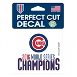 "Chicago Cubs 2016 World Series Champions Perfect Cut Color Decal 4""x4"""