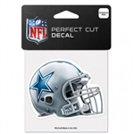 "Dallas Cowboys Helmet Logo Perfect Cut Color Decal 4""x4"""