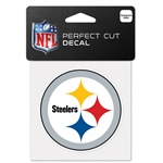 "Pittsburgh Steelers Perfect Cut Color Decal 4""x4"""
