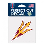 "Arizona State University Sun Devils Pitch Fork Logo Perfect Cut Color Decal 4""x4"""