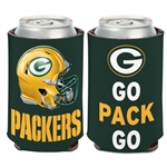 Green Bay Packers Go Pack Go 12oz. Can Cooler