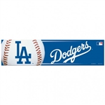 "Los Angeles Dodgers Officially Licensed MLB 3""x12"" Bumper Strip Sticker"