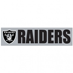 "Oakland Raiders Officially Licensed NFL 3""x12"" Bumper Strip Sticker"