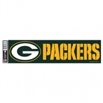 "Green Bay Packers Officially Licensed NFL 3""x12"" Bumper Strip Sticker"
