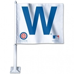 "Chicago Cubs ""W"" Officially Licensed MLB 11.75""x14"" Car Window Flag"