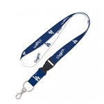 "Los Angeles Dodgers Officially Licensed MLB 1"" Width Keychain Lanyard w/ Detachable Buckle"