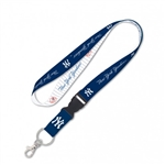"New York Yankees Officially Licensed MLB 1"" Width Keychain Lanyard w/ Detachable Buckle"