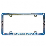 Los Angeles Dodgers Full Color Plastic License Plate Frame Cover