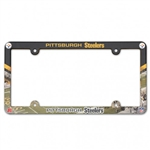 Pittsburgh Steelers Full Color Plastic License Plate Frame Cover