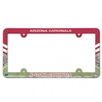 Arizona Cardinals Full Color Plastic License Plate Frame Cover