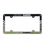 Oakland Raiders Full Color Plastic License Plate Frame Cover