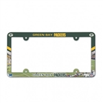 Green Bay Packers Full Color Plastic License Plate Frame Cover