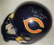 "Gale Sayers ""HOF 1977"" Signed Full Size Rep Throwback Bears Helmet JSA #S39318"