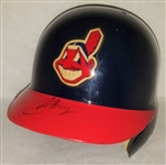 Carlos Baerga Signed Full Size Authentic Indians Batting Helmet JSA COA #S39324