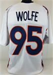 Derek Wolfe Denver Broncos Custom Away Jersey Mens Large