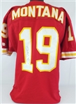 Joe Montana Signed Kansas City Chiefs #19 Wilson NFL Game Jersey JSA COA #S39358