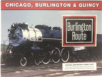 Chicago, Burlington, & Quincy Willabee & Ward Great American Railroads Emblem Patch Card