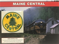Maine Central Willabee & Ward Great American Railroads Emblem Patch Card