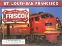 St. Louis-San Francisco Willabee & Ward Great American Railroads Emblem Patch Card