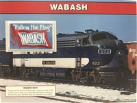Wabash Willabee & Ward Great American Railroads Patch Card