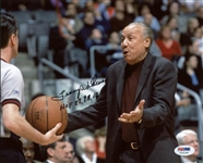 "Lenny Wilkens HOF 89,98,10"" Signed 8x10 Photo Authentic Autograph PSA #X71169"""