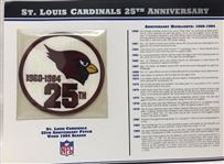 Willabee & Ward St Louis Cardinals 25th Anniversary 1984 Season Team Patch Card
