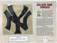 Willabee & Ward 1978 New York Yankees MLB Patch Cooperstown Collection