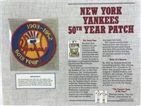 Willabee & Ward 1952 Ny Yankees 50th Year Cooperstown Collection Baseball Patch