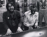 John Landis Signed 8x10 Photo W/ Ray Charles Beckett BAS Auto Autograph #B90164