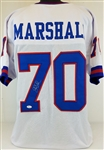 Leonard Marshall New York Giants Signed White Jersey JSA Witness #WP190826 (Holo Only)