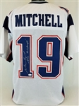 "Malcolm Mitchell ""SB LI Champs"" New England Patriots Signed White Jersey JSA Witness Auto"