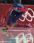 Bonnie Blair Signed Usa Olympic Speed Skating 8x10 Photo Autograph PSA #AB80258