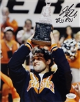 "Johny Hendricks ""Big Rigg"" Signed Wrestling 8x10 Photo JSA Witness #W619262"