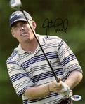 Justin Leonard Signed Pga Golf 8x10 Photo Authentic Autograph PSA/DNA #M54836