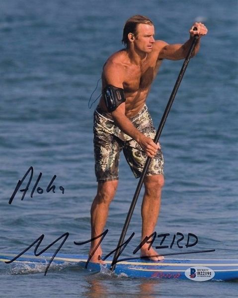 "Laird Hamilton ""Aloha"" Signed Surfing 8x10 Photo Autographed Beckett BAS #B22191"