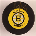 Joe Juneau Authentic Signed Boston Bruins Official NHL Hockey Puck JSA #Q03423