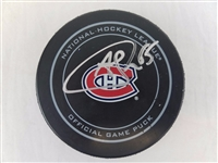 Andrew Shaw Signed Official NHL Montreal Canadiens Game Puck PSA ITP #7A80766