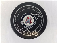 Bryan Little Signed Official NHL Winnipeg Jets Game Puck Autographed PSA #X77416