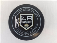 Matt Greene Signed Official NHL Los Angeles Kings Game Puck Beckett BAS #B01007